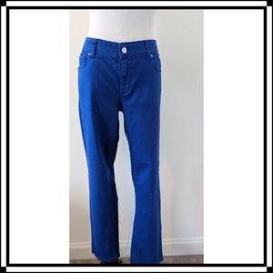 Like NEW!! WHBM Cobalt Blue Slim Ankle Jeans Sz10R